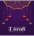 creative happy diwali hindu festival background vector image vector image