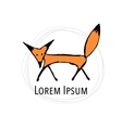 Cute fox sketch for your design vector image vector image