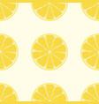 cute lemon seamless pattern seamless background vector image vector image