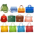 Different design of handbags vector image