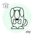 dog thin line icon vector image