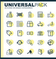 ecommerce icons set collection of price stamp vector image vector image