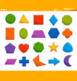 educational basic geometric shapes vector image vector image