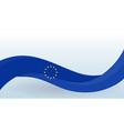 european union waving national flag design vector image