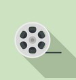 film reel icon flat style vector image vector image