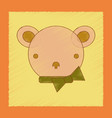 flat shading style icon kids bear vector image vector image