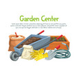 gardening banner with flowers vector image vector image