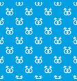 gender symbol pattern seamless blue vector image vector image