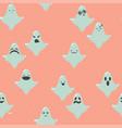ghost cartoon halloween retro pattern vector image
