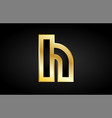 h gold golden letter logo icon design vector image