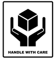 Handle with care sign isolated on white background vector image vector image