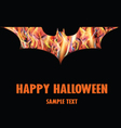 Happy Halloween with Isolated Fire Bat vector image vector image