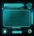 hud interface futuristic dashboard with screen vector image vector image