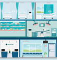 info graphic of medical hospital surgery vector image vector image