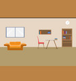 interior office design relax with sofa table vector image vector image