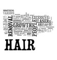 is laser hair treatment worth a try text vector image vector image