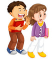 isolated character with expression - boy and girl vector image