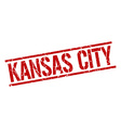 Kansas City red square stamp vector image vector image
