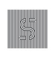 letter s logotype lineart design element logo or vector image vector image