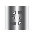 letter s logotype lineart design element logo vector image vector image