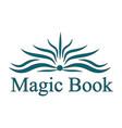logo magic book vector image vector image