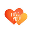 love you simple colorful emblem for decoration of vector image vector image