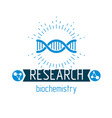 model of human dna strands biochemistry research vector image