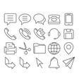 modern line style icons user interface set 3 vector image vector image
