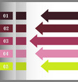 modern strips infographics x options banner for vector image vector image