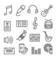music line icons set on white background vector image vector image