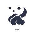 night icon on white background simple element vector image vector image