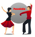 pasodoble dancing couple in cartoon style vector image vector image