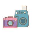 photographic cameras icon vector image vector image