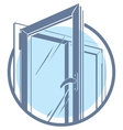 plastic window icon vector image vector image