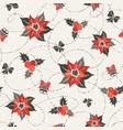 poisettia seamless pattern vector image vector image