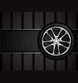 realistic car wheel vector image