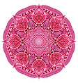red mandala card or invitation pink wedding vector image