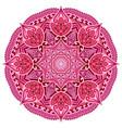 red mandala card or invitation pink wedding vector image vector image