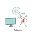 Relayter advertises TV vector image vector image