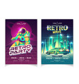 retro music club party cartoon leaflet vector image vector image