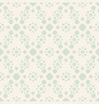 retro vintage seamless pattern with simple flowers vector image