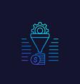 sales funnel icon line vector image