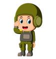 saluting soldier vector image