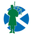 Scottish Piper Flag vector image vector image