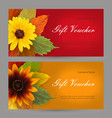 set autumn horizontal gift elements of corporate vector image vector image