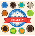 set blank retro vintage badges and labels eps10 vector image vector image