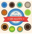 set blank retro vintage badges and labels eps10 vector image vector image