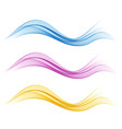 set of abstract flow transparent color wave vector image vector image