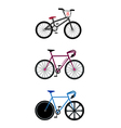Set of Track Cycling Equipment on White Background vector image