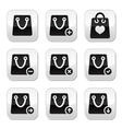 Shopping bag buttons set vector image